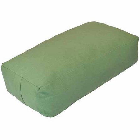 YogaDirect Supportive Rectangular Cotton Yoga Bolster, Removable and Washable Cover, Great for resto