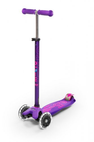 Micro Maxi Deluxe   Led 3 Wheeled, Lean To Steer, Swiss Designed Micro Scooter For Kids With Led Lig