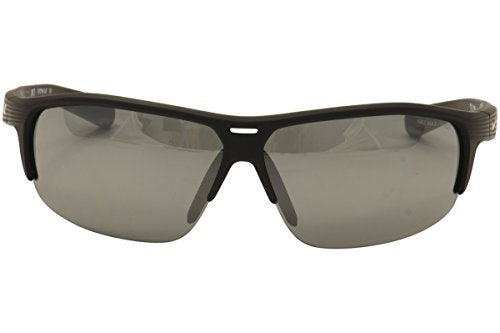 Nike Grey With Silver Flash Lens Run X2 Sunglasses, Matte Black/Black