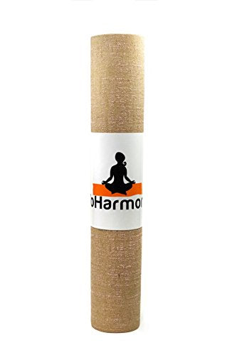 YoHarmony Eco Friendly Jute Yoga Mat Pilates Mat Exercise Mat