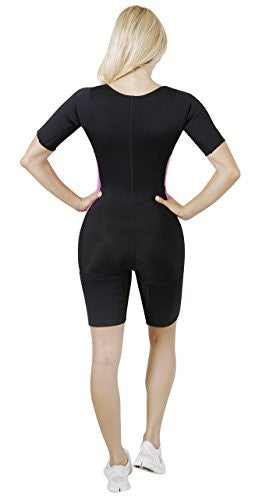 Body Spa Light Body Sauna Suit Neoprene Full Body Shaper Gym Sport Aerobic (Pink, Small) 13832