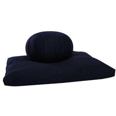 Kapok Zafu and Zabuton Meditation Cushion Set (2pc), Sand