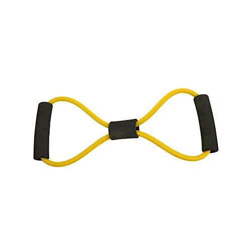 Wivily Single Resistance Band Exercise Tube for Ankle Straps, Chest Expander Fitness( Yellow)