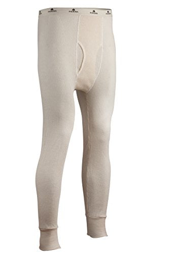 Indera Men's Tall Cotton Heavyweight Thermal Underwear Pant, Natural, XX-Large
