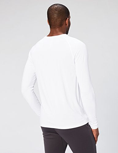 Peak Velocity Men's VXE Long Sleeve Quick-dry Loose-Fit T-Shirt, White, XX-Large