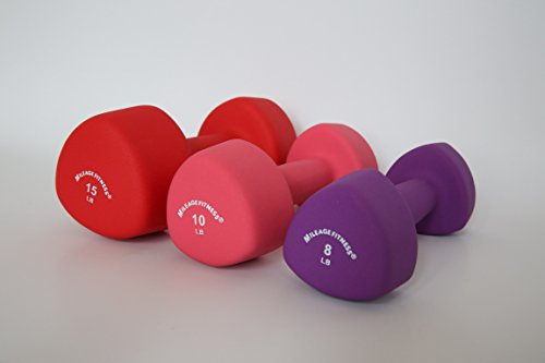 NEOPRENE TRIANGLE HEAD DUMBBELLS SOLD IN PAIR (SET OF 2 DUMBBELLS) (8)