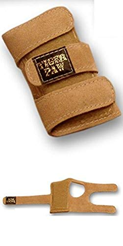 Tiger Paws Gymnastics Wrist Support Wraps | Comfortable & Low Profile Tan Suede Injury Prevention | Featuring Adjustable Inserts (x-small (under 69 lbs))
