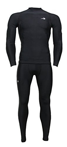 "Compression Z Long Sleeve Thermal Top Compression T Shirt, 2 Xl 48.5"" 52""   Black"