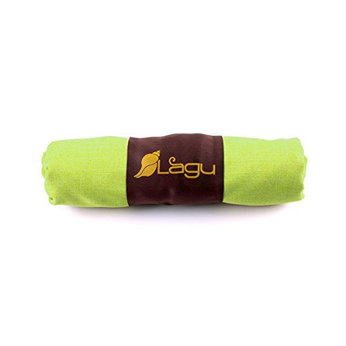 "Lagu - Sand-repellent Beach Blanket (Verde (Yellow Green), Large (60"" x 84""))"