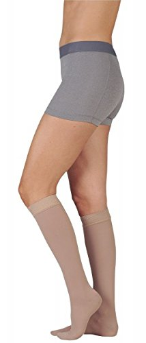 Juzo 3512MXADFF3SBSH10 V Dynamic Max 30-40 mmHg Full Foot Knee High Stockings With 3.5 cm Silicone B