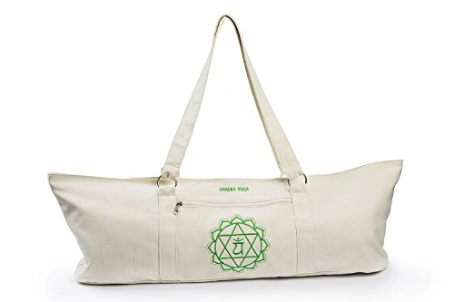 712459af8283 ANAHATA Extra Large Tote Yoga Mat Bag By Chakra Yoga 100% Cotton
