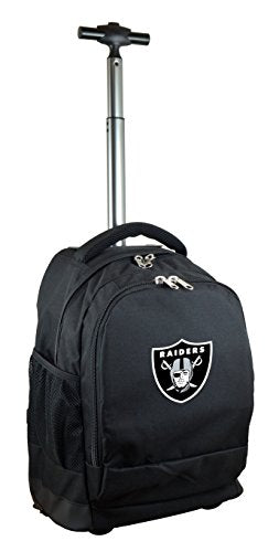 NFL Oakland Raiders Expedition Wheeled Backpack, 19-inches, Black