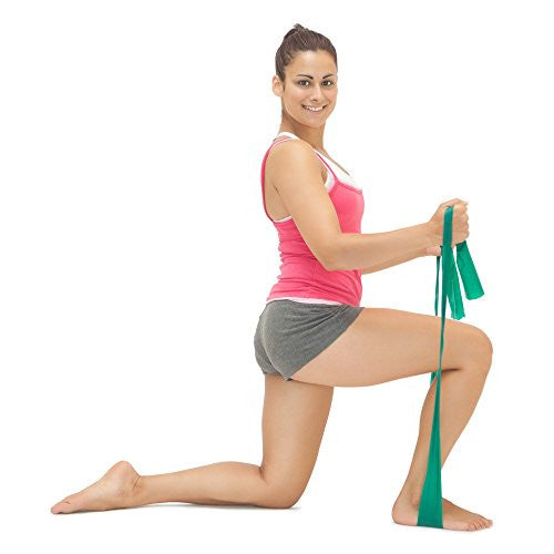 Instecho Flat Exercise Stretch Bands 3 X Resistance Bands Set (Light Medium Heavy) Latex Free   Phys