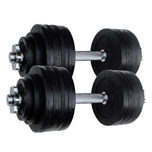 S 2 X 52.5 Lbs Adjustable Cast Iron Dumbbells 105 Lbs