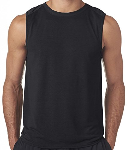Yoga Clothing For You Mens Sleeveless Muscle Tank Top, 3 Xl Black
