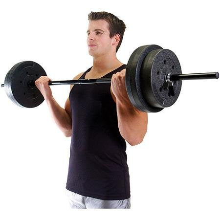Vinyl Weight Set, 100 Lbs Keep Yourself Fit And Toned With This Weight Set.