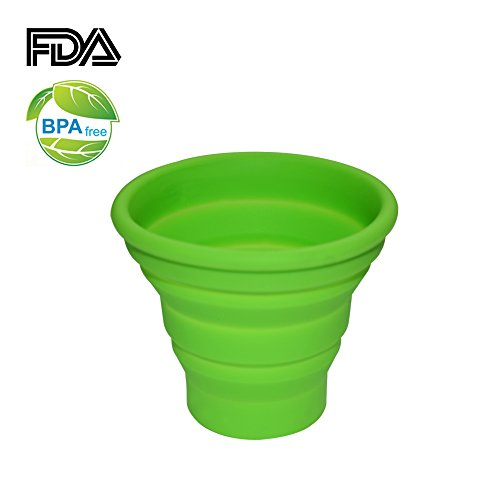 Ecoart Silicone Collapsible Travel Cup For Outdoor Camping And Hiking (1 Pack) (Green(S))