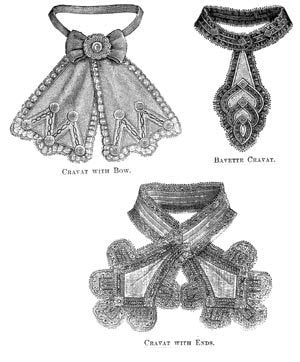 1868 3 Cravats And Collars Pattern