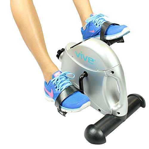 Vive Pedal Exerciser   Stationary Exercise Leg Peddler   Low Impact, Portable Mini Cycle Bike For Un