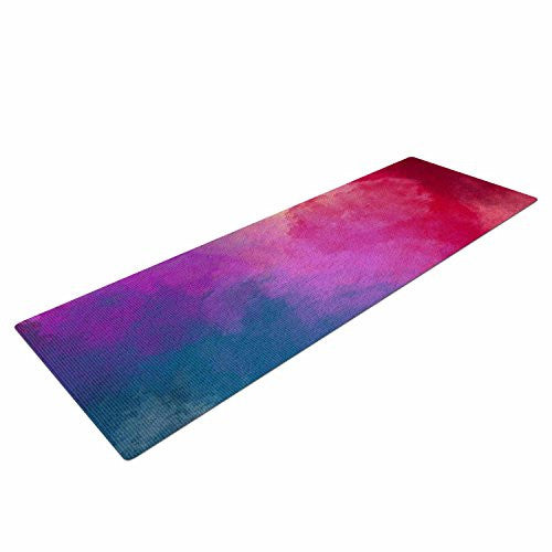 "Kess In House Viviana Gonzalez Abstract 01"" Yoga Exercise Mat, 72"" X 24"", Pink/Blue"