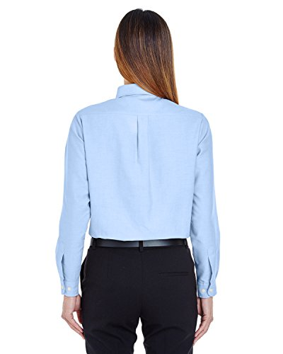 Ultraclub Ladies Classic Wrinkle-Free Long-Sleeve Oxford 8990 -Light Blue L