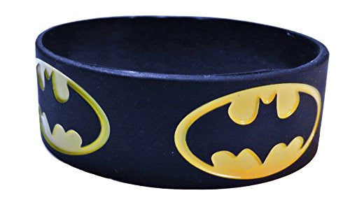 Batman Repeat Logo Black Silicone Bracelet Wristband