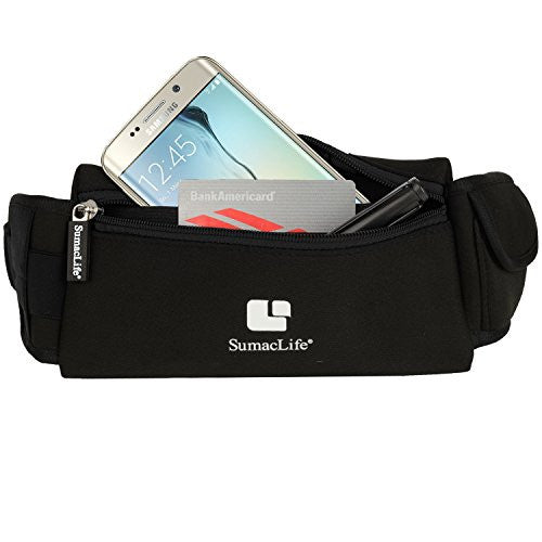 Sumac Life Workout Waist Pack Running Belt For Samsung Galaxy S9 Plus, S9, S8 Plus, S8, J7 V, J3 Emer
