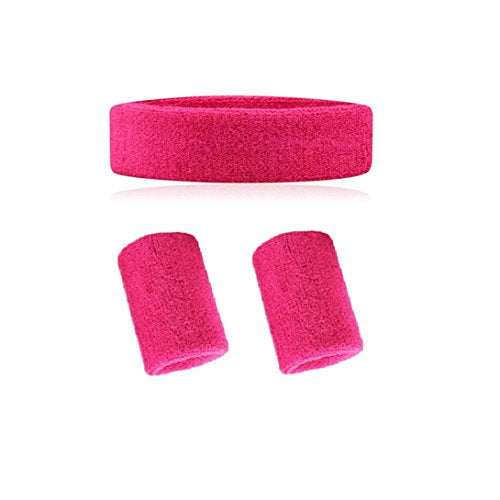 Wonzone Sweatband Set   (1 Headband And 2 Wristbands) In 10 Different Colors For Sports, Basketball