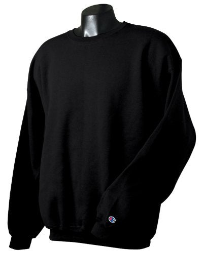 Champion Adult 50/50 Crewneck Sweatshirt, Black   Size 3 X Large