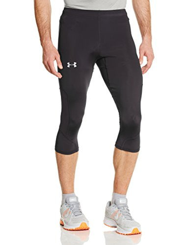 Under Armour Ua Run Compression Capri   Men's Black / Black / Reflective Xxl