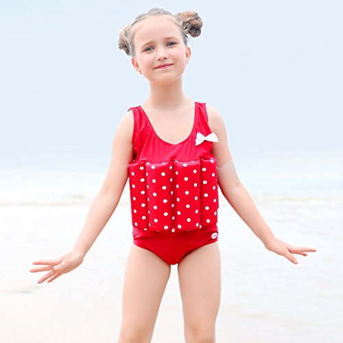 Zerlar Floatation Swimsuits With Adjustable Buoyancy For 1 10 Years Baby Girls