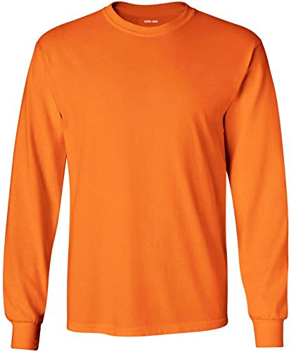 Joe's Usa   Long Sleeve 6.1 Ounce Cotton T Shirt 2 Xl Safety.Orange