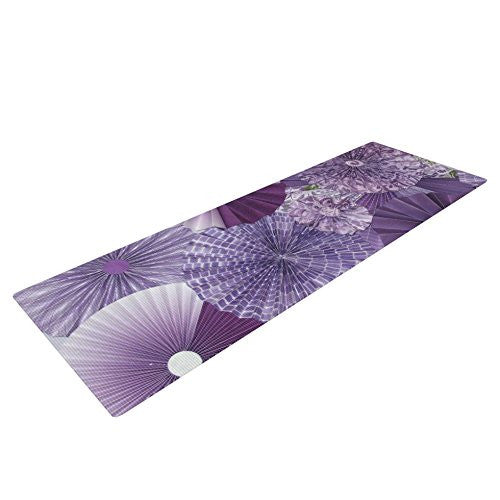 Kess In House Heidi Jennings Lavender Wishes Yoga Exercise Mat, Purple, 72 X 24 Inch