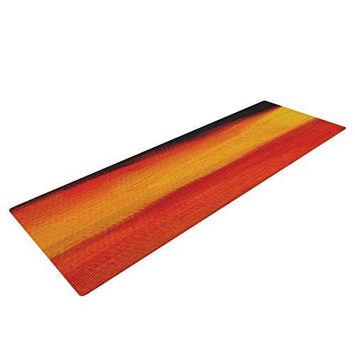 Kess In House Theresa Giolzetti Firework Yoga Exercise Mat, Yellow/Orange, 72 X 24 Inch