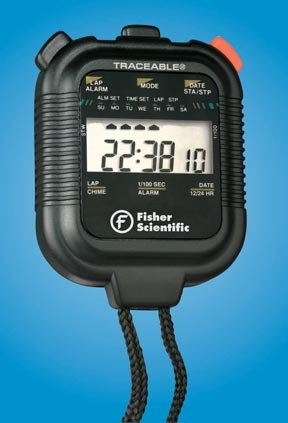 Fisherbrand Traceable Digitial Stopwatches; Hourly Chime; 2-3/8 dia. x 5/8 in.L