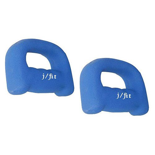 J Fit Neoprene Grip Dumbbell Weights 5 Lb./Pair