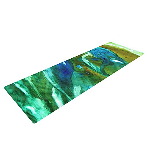 Kess InHouse Rosie Brown Yoga Exercise Mat, Hurricane, 72 x 24-Inch