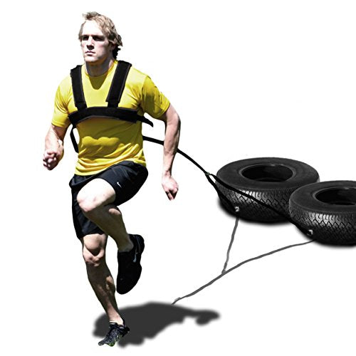 Speedster Padded Dual Use Harness With 10.5ft Y Towline & Installation Kit For Speed Training Sleds