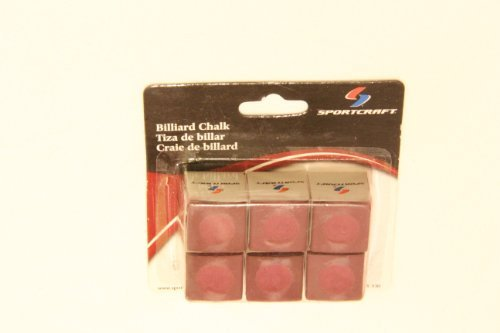 Sportcraft Billiard Chalk Pre-hollowed to fit cue tips - red by Sportcraft