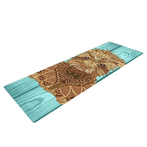 "Kess In House Art Love Passion Gatsby The Great Exercise Yoga Mat, Brown Dog, 72"" By 24"""