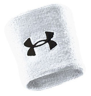 "Under Armour Adult Performance 3"" Wristband,White,3"""