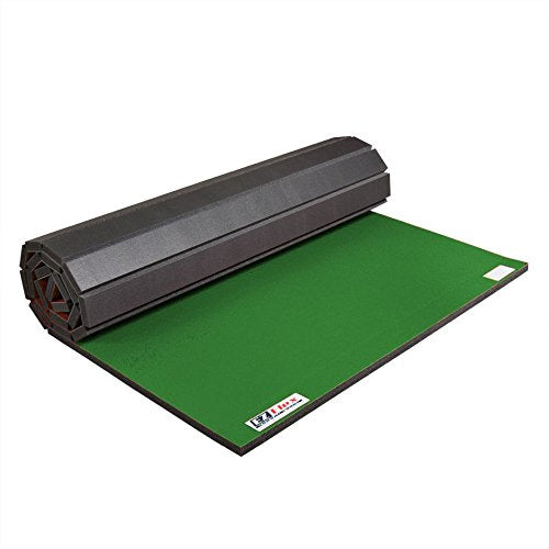 IncStores Roll Out Wrestling and Tumbling Mats (Green, 4 ft x 6 ft x 1-5/8 in)