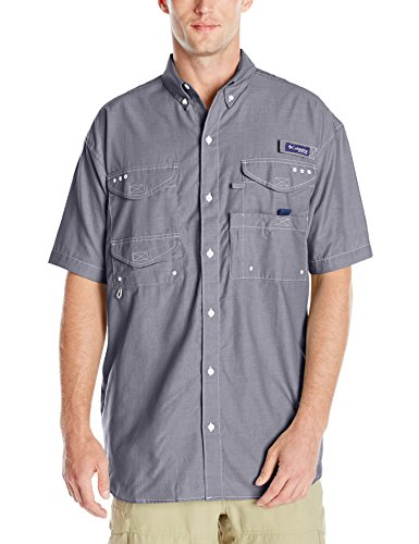 Columbia Sportswear Men's Super Bonehead Classic Short Sleeve Shirt, Collegiate Navy Oxford, Medium