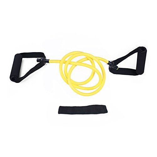 Adeco Single Resistance Band   Door Anchor And Starter Guide, Yellow