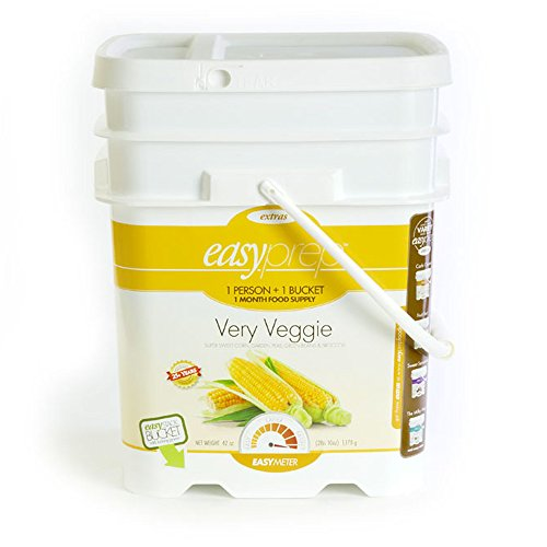 EasyPrep Very Veggie 1-Month Emergency Food Storage Supply, Freeze-Dried Vegetables, Variety (156 total Servings)