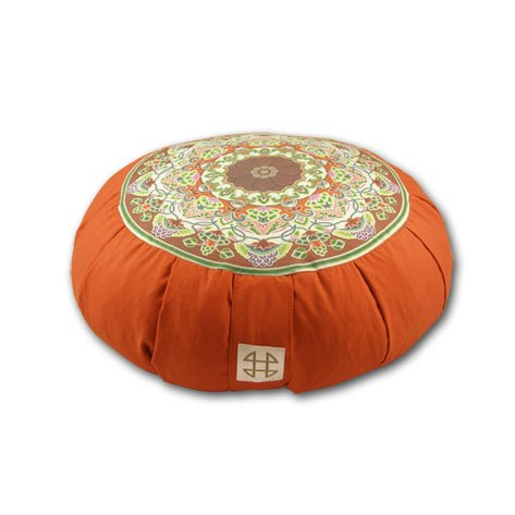 Relaxso Zafu Statics Meditation Cushion, Toile Mocha