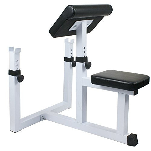 Zeny Adjustable Arm Curl Bench Fitness Exercise Preacher Curl Weighted Bench Bicep Strength Training