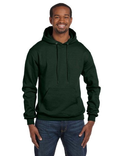 Champion Double Dry Action Fleece Pullover Hood,Dark Green,X Large