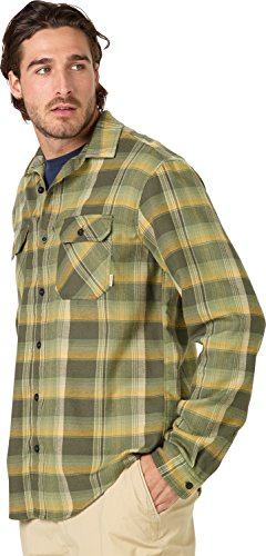 Burton Men's Brighton Flannel Shirt, Forest Night Stella Plaid, Medium