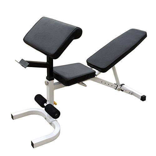 Ader Sporting Goods Incline Decline Bench W/Leg Curl Extension, Mat, Dumbbell Set 3, 5, 8, Lbs